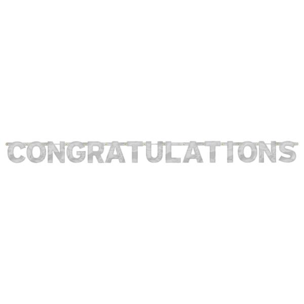 congratulations foil letter banners 2m x 15 8cm 12 pkg amscan