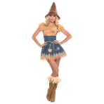 Adults Sultry Scarecrow Costume - Size 10-12