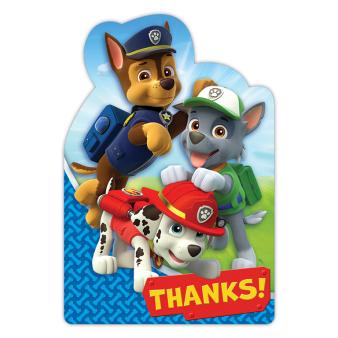 Paw Patrol Thank You Shaped Postcards - 6 PKG/8