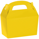 Sunshine Yellow Gable Boxes 12cm w x 6.3cm l x 11cm d - 24 PC