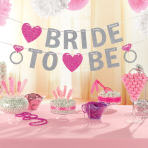 Hen Party Bride to Be Glitter Banners 3.65m - 6 PC