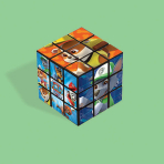 Paw Patrol Puzzle Cube Bulk Favours - 24 PC