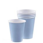 Pastel Blue Paper Cups 266ml - 6 PKG/20