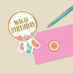 Boho Birthday Girl Postcard Invitations - 6 PKG/8
