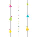 Party Hat Balloon Fun Strings 1.82m - 6 PC