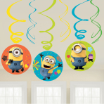 Minions Swirl Decorations 45cm - 6 PKG/6