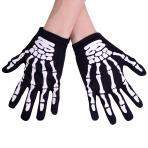 Skeleton Gloves - Size Child - 6 PC