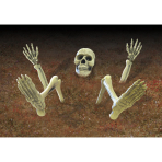 Ground breaker Lawn Skeleton  - 3 PKG/9 (Legs 73.6cm, Arms 38cm, Skull 15.2cm x 11.4cm)
