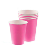 Bright Pink Paper Cups 266ml - 12 PKG/8