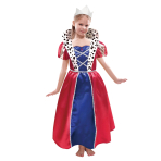 Children Queen Dress & Crown Costume - Age 6-8 years - 1 PC