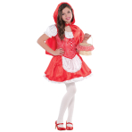 Children Lil Red Riding Hood Costume - Age 8-10 Years - 1 PC