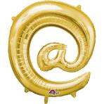 """Symbol @ Gold SuperShape Foil Balloons 34""""/""""86cm P50 - 5 PC"""