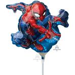 "Spider-Man Mini Foil Balloons 7""/17cm w x 10""/25cm h A30 - 5 PC"