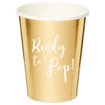 Ready To Pop Paper Cups 250ml - 6 PKG/8