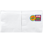 Frosty White Luncheon Napkins 33cm - 6 PKG/125