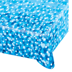 Blue Sparkle Party Paper Tablecovers - 10 PC