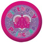 Birthday Princess Holographic Badges 5.5cm - 12 PC