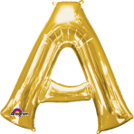 "Letter A SuperShape Gold Foil Balloon 34""/""86cm P50 - 5 PC"