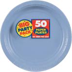 Pastel Blue Paper Plates 23cm - 6 PKG/50