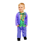Joker Comic Book Style Costume - Age 6-12 Months - 1 PC