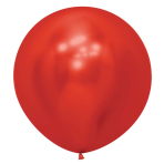 "Reflex Crystal Red 915 Latex Balloons 24""/60cm - 3 PC"