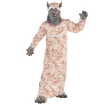 Grandma Wolf Costume - Age 8-10 Years - 1 PC