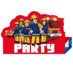 Fireman Sam Stand-up Invitations - 10 PKG/8