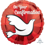 Confirmation Dove Standard HX Foil Balloons S40 - 5 PC