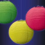 Neon Paper Lanterns 24cm - 12 PKG/3