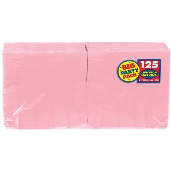 New Pink luncheon Napkins 33cm - 6 PKG/125