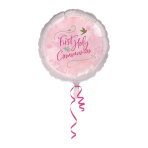 Pink First Holy Communion Standard Foil Balloons S40 - 5 PC