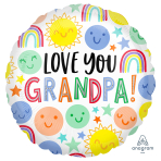 Love You Grandpa Standard HX Foil Balloons S40 - 5 PC