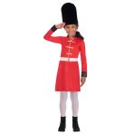 Royal Guard Girl Costume - Age 4-6 Years - 1 PC