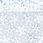 Snowflakes Confetti Purple & White Metallic Mix 70g - 9 PC