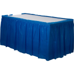 Bright Royal Blue Plastic Table Skirt 4.2m x 73cm - 6 PC