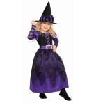 Purple Be Witched Costume - Age 4-6 Years - 1 PC