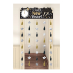 Happy New Year Door Curtains 2m x 1m - 6 PC