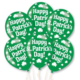 Happy St Patrick's Day Latex Balloons 10 PKG/6