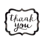 Black Thank You Stickers - 12 PKG/50