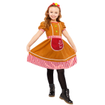 Gingerbread Girl Costume - Age 8-10 Years - 1 PC