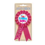 Birthday Girl Award Ribbons - 6 PC