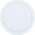 Clear Plastic Plates 23cm - 10 PKG/20