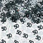 Black/Silver 50 Metallic Confetti 14g - 12 PC