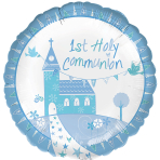 Communion Church Blue Standard Foil Balloons S40 - 5 PC