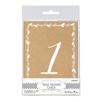 Rustic Table Number Cards - 6 PKG/20