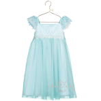 Elsa Aqua Lace Smock Dress - Age 7-8 Years - 1 PC