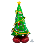 "Christmas Tree AirLoonz Large Foil Balloons 31""/78cm x 59""/149cm P70 - 3 PC"