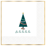 Traditional Christmas Hot Stamped Luncheon Napkins 33cm - 6 PKG/16