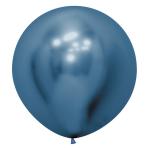 "Reflex Blue 940 Latex Balloons 24""/60cm - 3 PC"