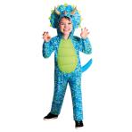 Blue Dino Costume - Age 6-8 Years - 1 PC